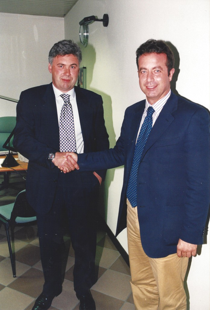 Foto Luigi Carletti con Carlo Ancelotti