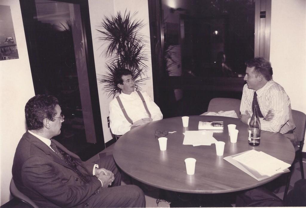 Foto Luigi Carletti con Maurizio Maggiani