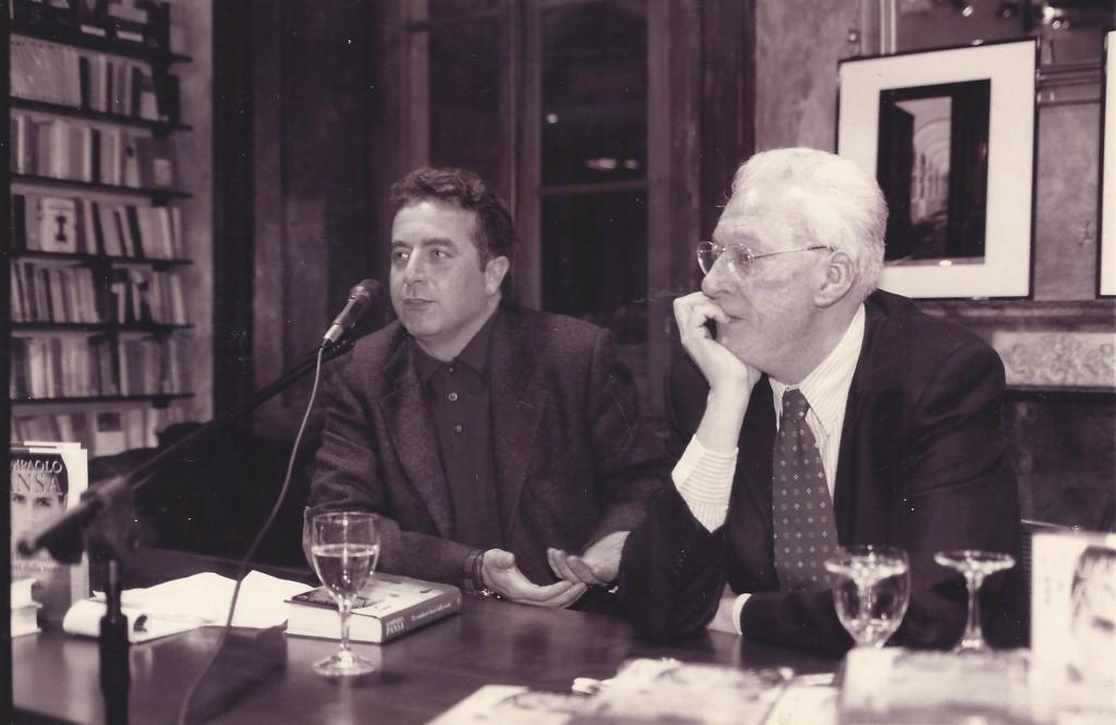 Foto Luigi Carletti con Giampaolo Pansa